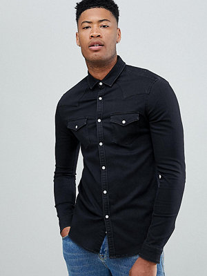 ASOS DESIGN Tall skinny western denim shirt