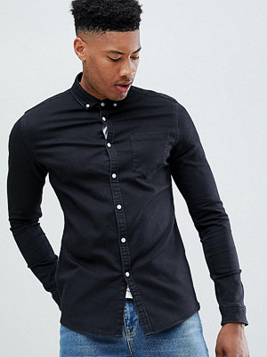 ASOS DESIGN Tall stretch slim denim shirt