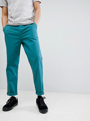 ASOS DESIGN Skater Chinos In Teal - New blue