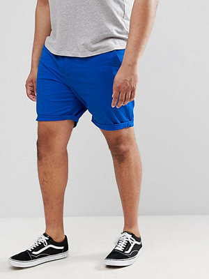 ASOS DESIGN Plus Slim Chino Shorts In Bright Blue - Skydiver