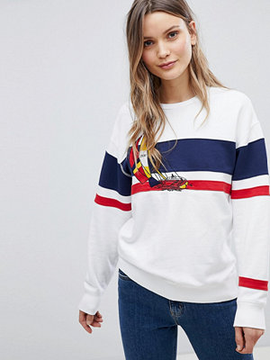 Polo Ralph Lauren Bring It Back Randig sweatshirt i marin stil