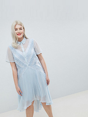 ASOS Curve ASOS DESIGN Curve shirt dress in dobby lace