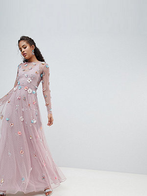 ASOS Edition Tall 3D embellished maxi dress - Lilac