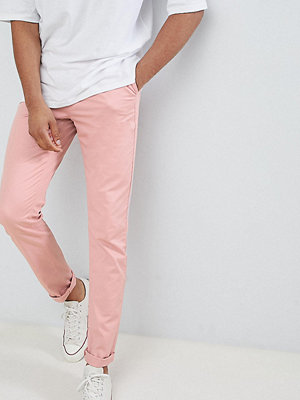 ASOS DESIGN Tall Slim Chinos In Pastel Pink - Blush