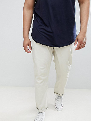ASOS DESIGN Plus Slim Chinos In Putty - Oatmeal