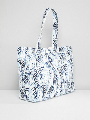 Jack Wills shopper Beach Bag - White floral