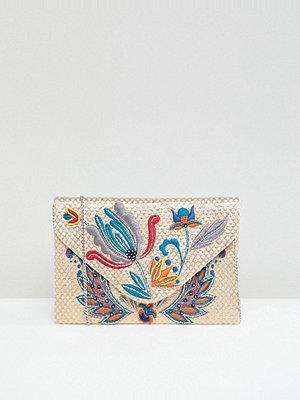 Park Lane kuvertväska Embroidered Clutch Bag With Optional Shoulder Strap