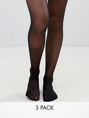 Pretty Polly 3-pack tights i 15 denier