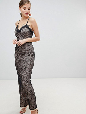 Little Mistress All Over Lace Maxi Dress