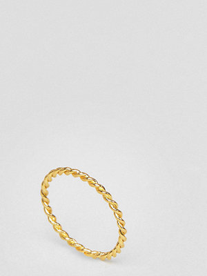 Ottoman Hands Gold Plated Twisted Ring