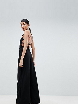 Missguided Tall Jumpsuit med snörning baktill