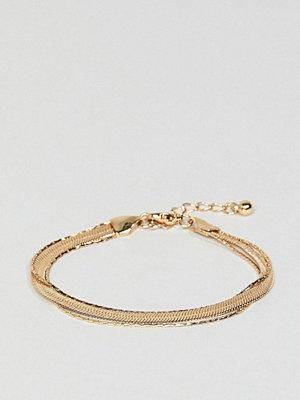 ASOS armband DESIGN multirow bracelet with vintage style flat snake chain