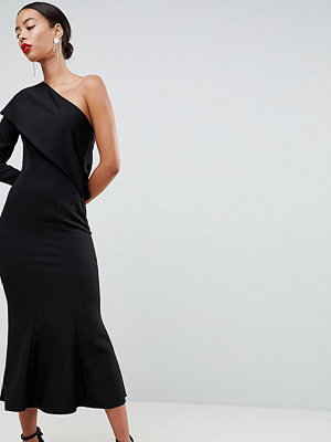 Asos Tall ASOS DESIGN Tall one shoulder fit and flare midi dress