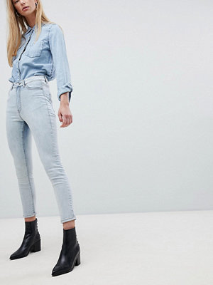 Dr. Denim Cabana Högt beskurna skinny jeans Light foggy blue