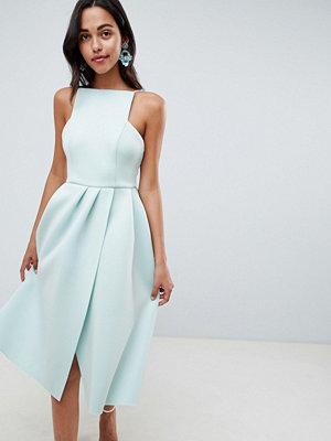 ASOS DESIGN strappy open back prom dress - Dusty aqua