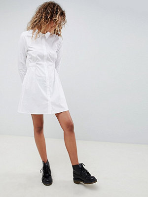 ASOS DESIGN cotton gathered waist shirt dress