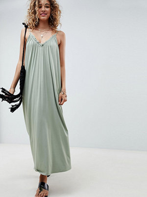ASOS DESIGN gathered maxi dress - Khaki