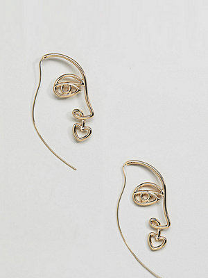 DesignB London örhängen Oversized Face Hoop Earrings