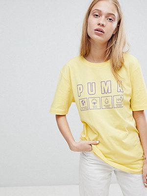 Puma Exclusive Oversize T-shirt i ekologisk bomull med flik Lemon drop