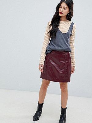 Vero Moda high shine skirt - Sun-dried tomato