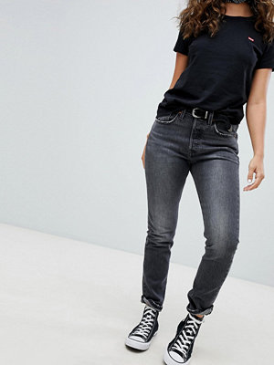 Levi's 501 Skinny Jeans in Washed Black - Coal black