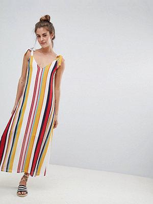 Pull&Bear v neck cami dress in multi stripe print