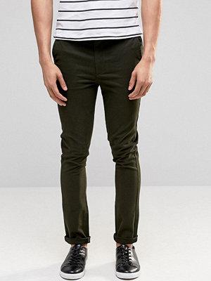 ASOS Super Skinny Trousers In Khaki - Khaki