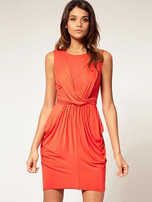 ASOS Twist Workwear Dress with Draped Skirt - Dark denim