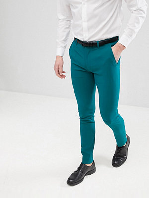ASOS DESIGN Super Skinny Smart Trousers In Teal - Teal