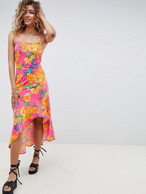 ASOS DESIGN hi lo hem cami maxi dress in bright floral - Floral print