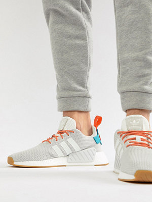 Adidas Originals NMD R2 Boost Summer Trainers In White CQ3080