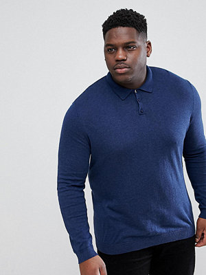 ASOS DESIGN Plus Muscle Fit Knitted Polo