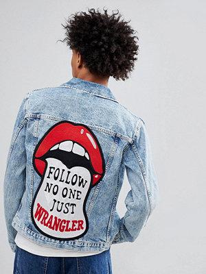Wrangler Denim Jacket with Retro Back Print