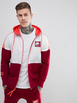 Street & luvtröjor - Nike Air Full Zip Hoodie In Red 886044-051