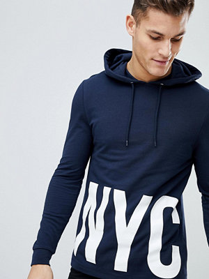 Street & luvtröjor - ASOS Muscle Hoodie With NYC Print
