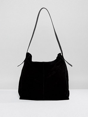 ASOS shopper Suede Contrast Shoulder Bag