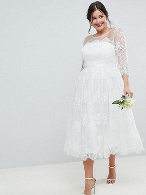 ASOS Edition Curve Lace Midi Prom Wedding Dress