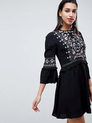 Forever New Embroidered Smock Dress