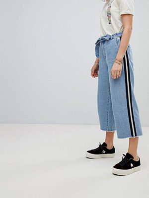 Maison Scotch Cropped Wide Leg Denim Trousers - Indigo