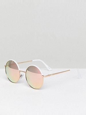 Vans Circle Of Life Sunglasses With Mirror Lense - White multi