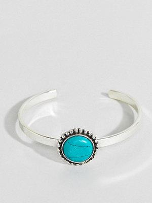 ASOS armband DESIGN Stone Cuff Bracelet - Rhodium