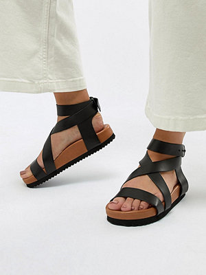 Selected Femme Leather Chunky Flat Sandal