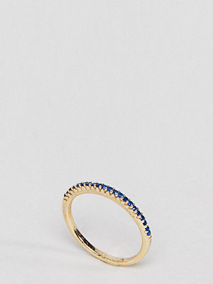 SHASHI 18K Gold Pave Sapphire Crystal Ring - Sapphire