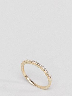 SHASHI 18K Gold Pave Crystal Ring - Crystal