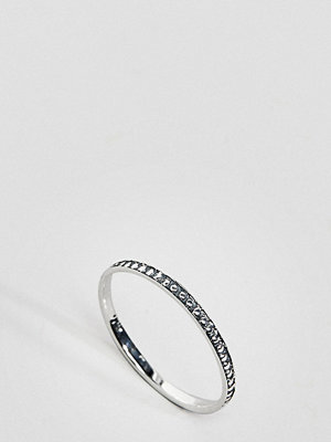 ASOS Curve ASOS DESIGN Curve Sterling Silver Engraved Ball Detail Ring