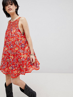Free People Oh Baby Floral Print Dress