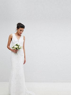 Chi Chi London Tall Bridal Lace Maxi Dress - Ivory
