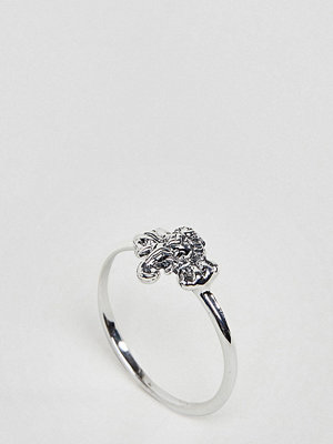 ASOS Curve ASOS DESIGN Curve ring with elephant detail in sterling silver