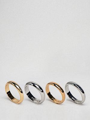 Cheap Monday Conspiracy Ring Set - Rhodium