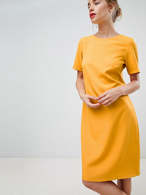 Closet London cap sleeve shift dress in tangerine orange - Tangerine